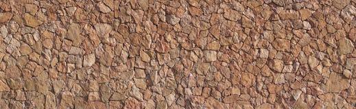 Panorama - Brown Canarian natural stone wall Stock Photo