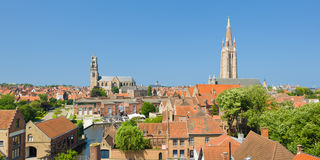 Panorama of Bruges Stock Image