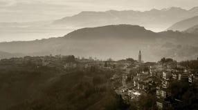 Panorama brumeux Photo stock