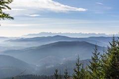 Panorama brumoso Foto de archivo libre de regalías