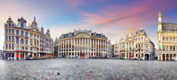 Panorama of Brussels, Belgium Royalty Free Stock Photography