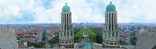 Panorama of Brussels Stock Photos