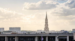 Panorama of Brussels city Royalty Free Stock Photo