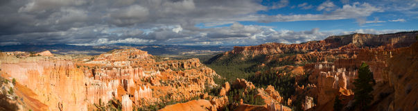 Panorama of Bryce Canyon as seen from Sunset Point Stock Photography