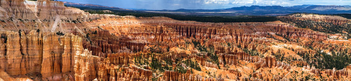 Panorama of Bryce Canyon Stock Images