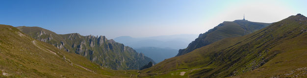 Panorama Bucegi da montanha Fotografia de Stock