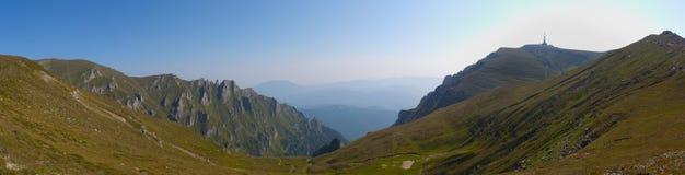 Panorama Bucegi de la montaña Fotografía de archivo