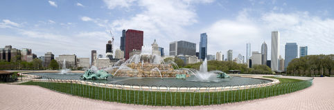 Panorama of Buckingham Fountain Royalty Free Stock Image