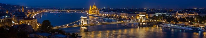 Panorama - Budapest imagenes de archivo