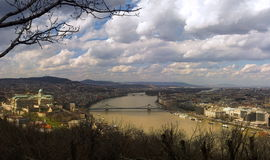 Panorama of Budapest Royalty Free Stock Images