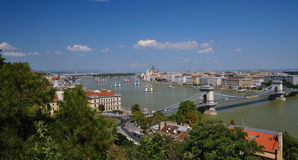 Panorama of Budapest Royalty Free Stock Photography