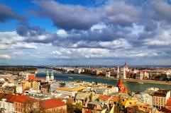 Panorama Budapest Zdjęcia Royalty Free