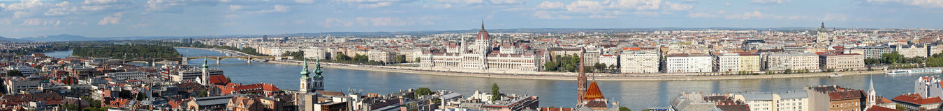 Panorama of Budapest Stock Photos