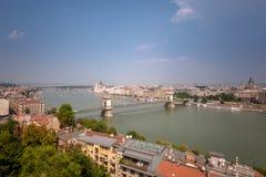 panorama- budapest arkivfoton