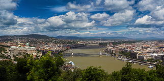 Panorama of Budapest stock images