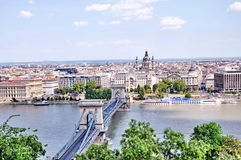 Panorama of Budapest city. Stock Photo