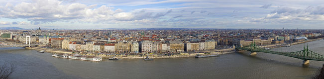 Panorama of Budapest city, Hungary Royalty Free Stock Photo