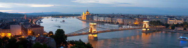 Panorama of Budapest Royalty Free Stock Image