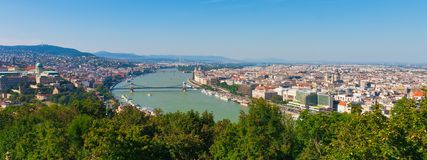 Panorama of Budapest, Hungary Stock Photography