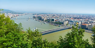 Panorama of Budapest, Hungary Royalty Free Stock Photos