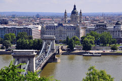 Panorama of Budapest. In Hungary Royalty Free Stock Photo