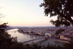 Panorama of Budapest,Hungary Stock Photo