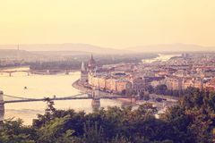 Panorama of Budapest,Hungary Royalty Free Stock Images