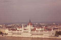 Panorama of Budapest Stock Photos