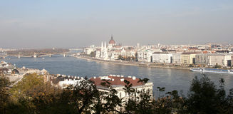 Panorama of Budapest, Hungary. View on Parliament form Fisherman's Bastion, Budapest Stock Image