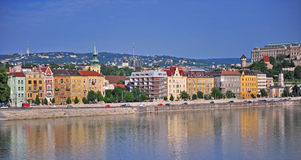 Panorama of Budapest old town Royalty Free Stock Photography