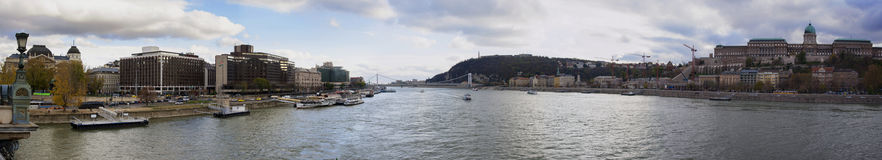 Panorama of Budapest Stock Photography