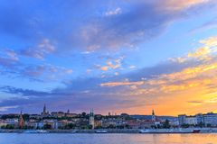 Panorama of Budapest at sunset Royalty Free Stock Photo