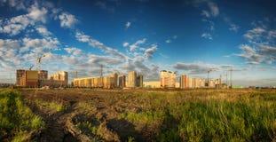 Panorama budowa nowi budynki Obrazy Stock