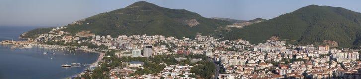 Panorama of the Budva, Montenegro Royalty Free Stock Photos