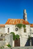 Panorama of Budva, streets Old town. Montenegro Royalty Free Stock Photography