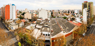 Panorama of Buenos Aires Stock Photography