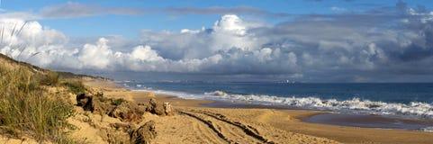 Panorama of Buffalo Beach near Bunbury Western Australia. Royalty Free Stock Photo
