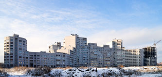 Panorama building. New neighborhood under construction. architecture Stock Photo