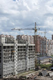 Panorama building. View of the new city district under construction Stock Image