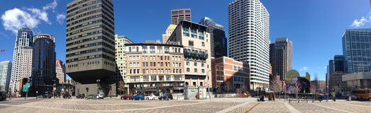 Panorama from buildings downtown Boston Stock Photo