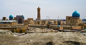 Panorama of Bukhara's old town Stock Images