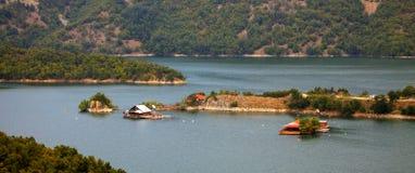 Panorama bulgaro del lago Fotografia Stock Libera da Diritti