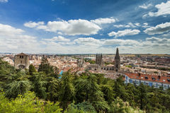 Panorama of Burgos, Spain with Burgos Cathedral Royalty Free Stock Photos