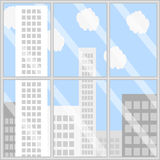 Panorama business building Stock Images