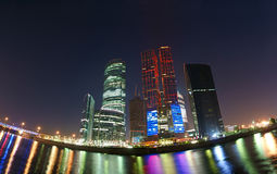 Panorama of the business centre, Moscow Royalty Free Stock Image
