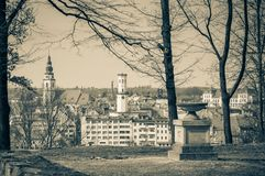 Panorama of Bystrzyca Klodzka, view of the old buildings of the city. Poland, Panorama of Bystrzyca Klodzka, view of the old buildings of the city europe sudety stock image