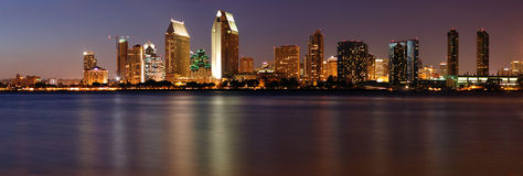Panorama céntrico de San Diego foto de archivo