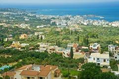 Panorama côtier de Crète Images libres de droits