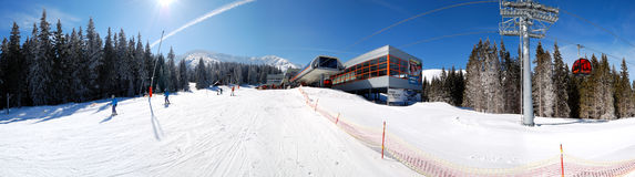 Panorama of cableway station in Jasna Stock Images