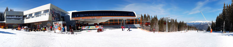 Panorama of cableway station in Jasna Stock Photos